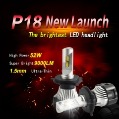 52W 9000LM LED Headlight